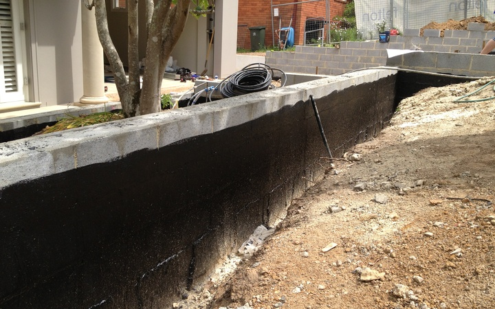 Block Retaining Wall Waterproofing : Retaining wall